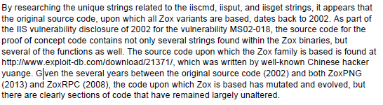 16-Zox strings