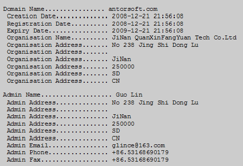 2-antorsoft WHOIS