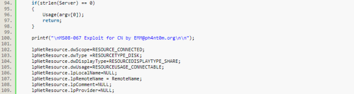 20-emm code